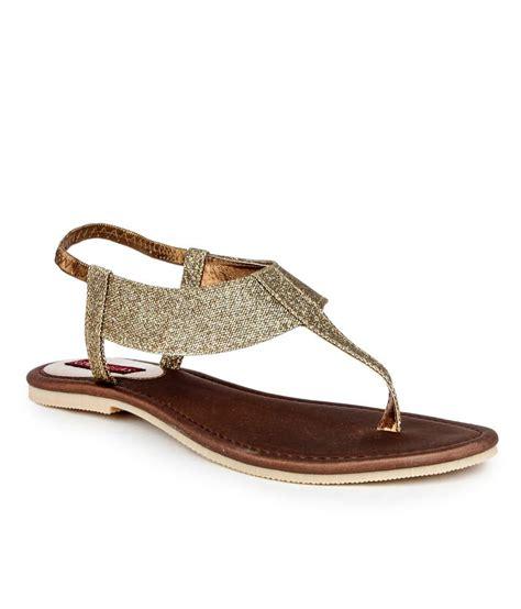 Sandal Wanita Fladeo Gold Kotak cinderellas gold flat sandals price in india buy cinderellas gold flat sandals at snapdeal