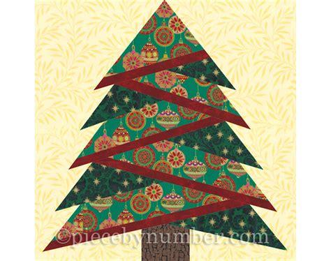 christmas tree pattern block template pine tree quilt block pattern paper piecing quilt pattern
