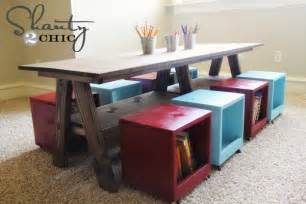 Pottery Barn Kids Play Kitchen Ana White Double Trestle Play Table Diy Projects