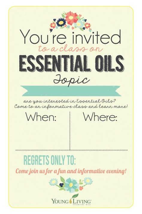 Items Similar To 4x6 Young Living Class Invitation Instant Download Printable Invite People To Living Flyer Template