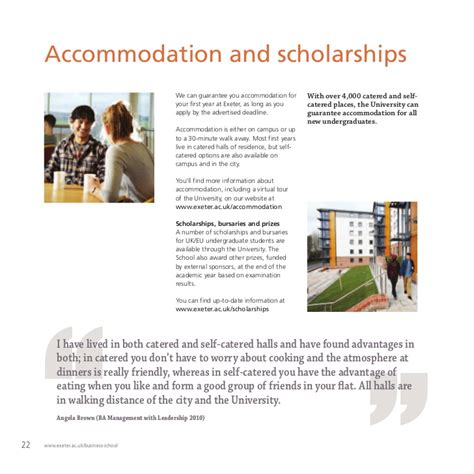 Exeter Mba Fees by Undergraduate Brochure Of Exeter Business School