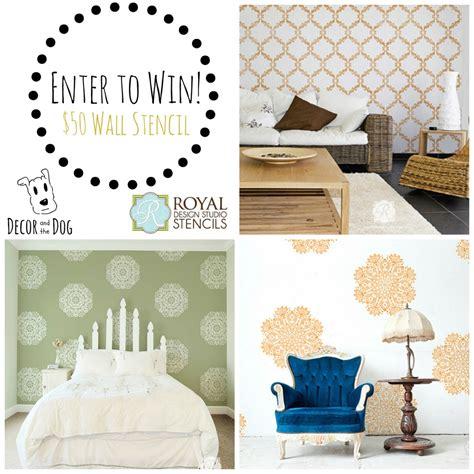 Designer Giveaways - royal design studio stencil giveaway decor and the dog