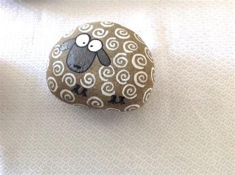 sheep stone interiors sheep stone hand painted rock stone sheep beach stone gift stone