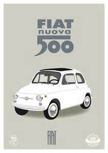 Fiat Poster Fiat 500 Italian Print Italy Affiche Poster