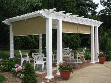 pergola design ideas attached vinyl pergola kits stylish