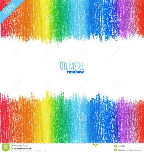 background design using oil pastel oil pastel rainbow background stock illustration image