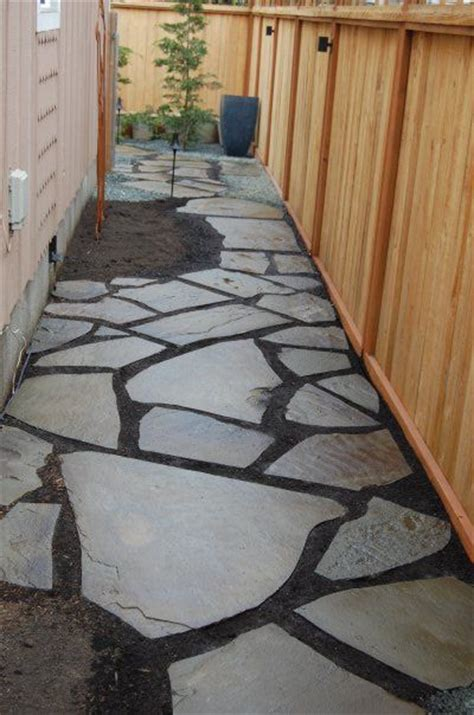Hand cut Bluestone used to create a natural pathway along