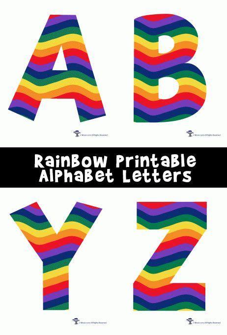 colored bubble letters rainbow alphabet printable letters brochures printable