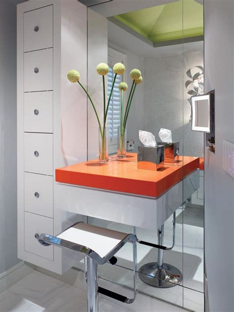 modern makeup vanity table bathroom bathroom with floating makeup table and storage