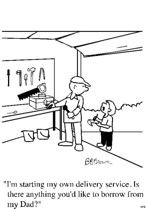 werkstatt comic vater in einer werkstatt ausmalbild malvorlage comics