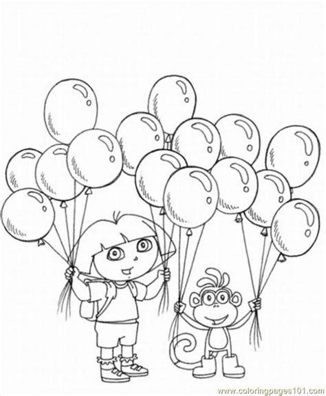 happy birthday dora the explorer coloring pages dora the explorer coloring pages to print coloring home