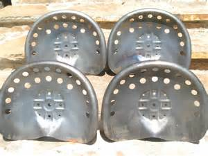 metal tractor seats four steel tractor seats metal farm or bar stool tops pan