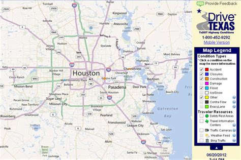 texas road conditions map i 45 houston traffic maps and road conditions the knownledge