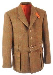 Country life classic harris tweed norfolk tweed shooting jacket from
