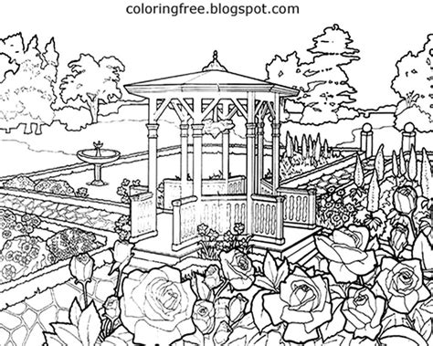 beautiful garden coloring page free coloring pages printable pictures to color kids