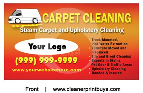 Carpet Cleaning Business Cards Templates by Carpet Cleaning Business Cards C0001 Uv Gloss