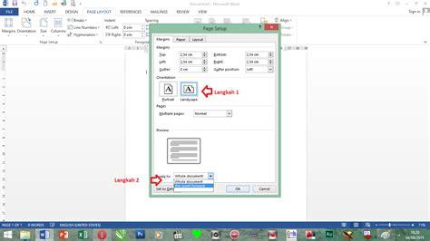 page layout artinya cara membuat orientasi page layout berbeda dalam satu file
