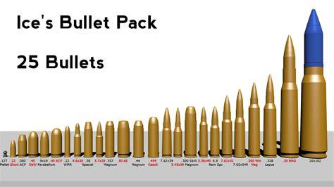 bullet for my names 3d model pack bullet shell s