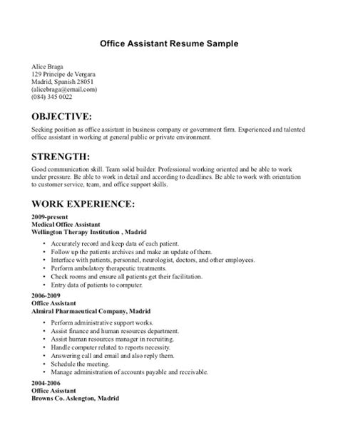 Admin Resume by Office Admin Resume Sles Sle Resumes