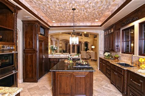 Tuscan Kitchen Island taking a stock of space lighting and design in your