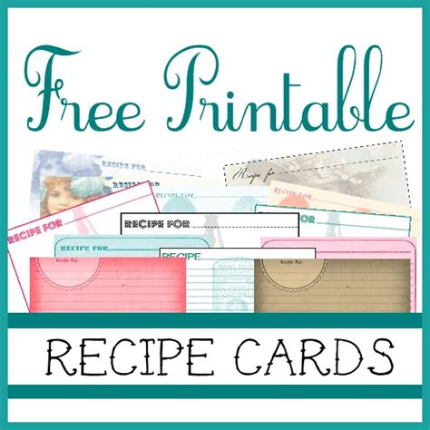 sweetly scrapped  printable recipe cards