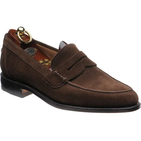 loake loafers loake shoes loake 1 256 loafers in brown suede at
