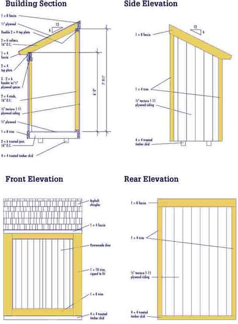 Lean To Building Plans Free Diy Wood Design Here Shed Plans Steel