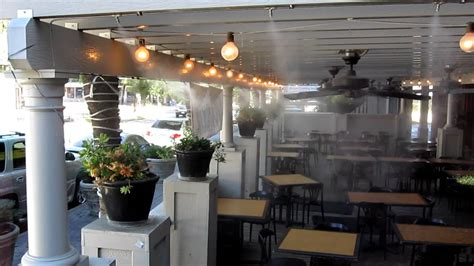 Patio Cooling System by Restaurant Outdoor Cooling And Misting Solutions Hydrcool Uae