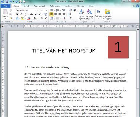 word layout software word styles hoofstuk een mooie layout geven client