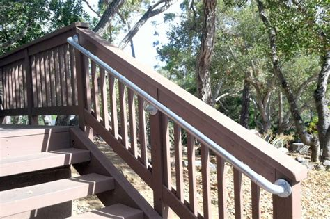 outdoor banister railing handrail for outdoor stairs
