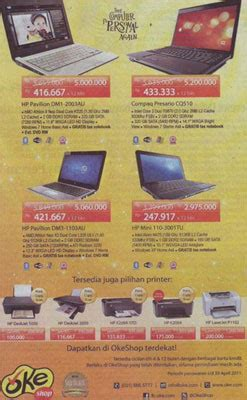 Hp Samsung Okeshop Promo Of Notebook Hp Mini Pavilion Compaq At Okeshop