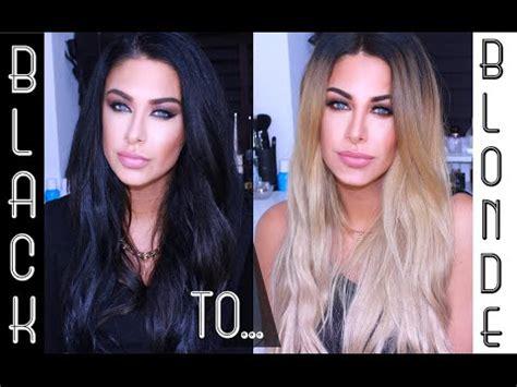 black hair to blonde hair transformations black hair to blonde hair my new blonde beauty works la