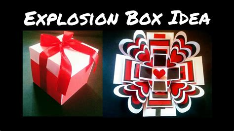 explosion box tutorial youtube explosion box tutorial diy anniversary valentines