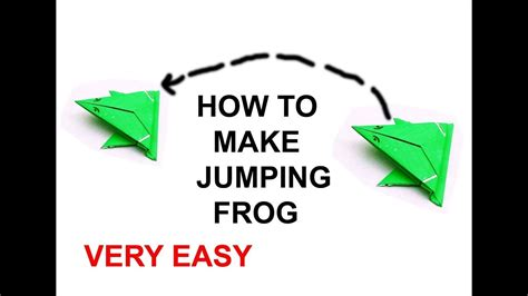 How To Make A Jumping Frog With Paper - origami jumping frog how to make a paper frog that jumps