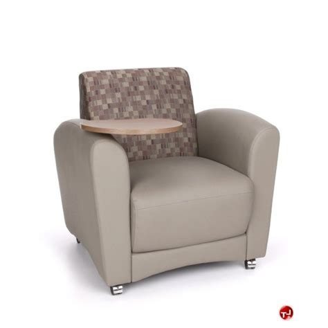 lounge chair with desk arm the office leader omf 821 reception lounge lobby tablet