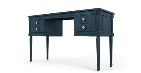 Bourbon Vintage Desk Dark Blue Made Com Blue Desk