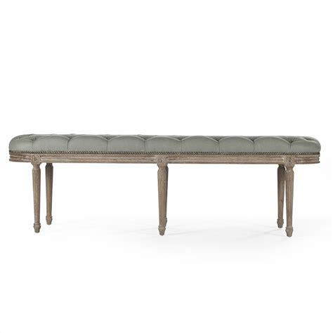 tufted benches zentique michel tufted bench