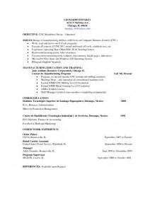 Cnc Machine Operator Cover Letter by Cnc Machinist Resume Getessay Biz