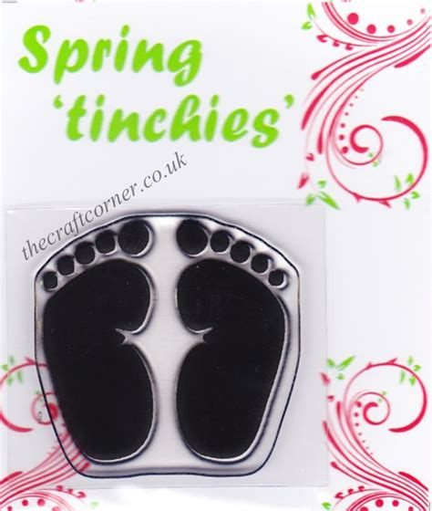 baby footprint rubber st footprints clear rubber st