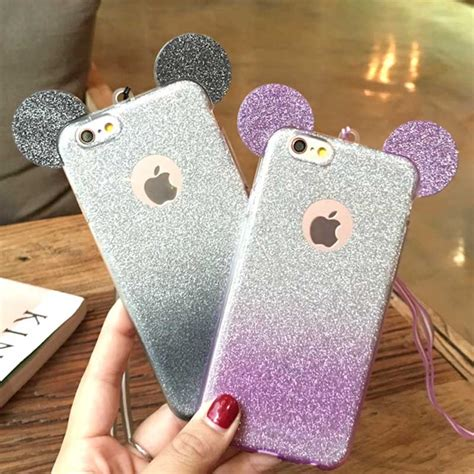 Samsung Galaxy S7 3d Mickey Mouse Ear With Stand Holder Tpu Softcase glitter minnie mickey mouse ears soft tpu for samsung galaxy s7 edge s6 s5 j5 a5