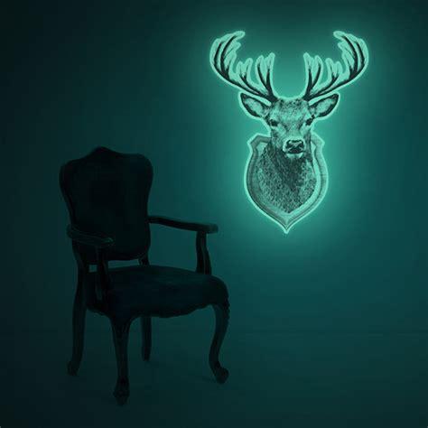 wall sticker glow in the luminous deer trophy wall sticker one of a glow in the