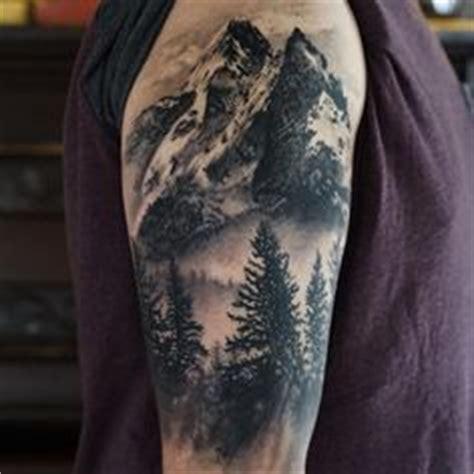 quarter sleeve mountain tattoo half sleeve tattoo idea tattoo ideas pinterest