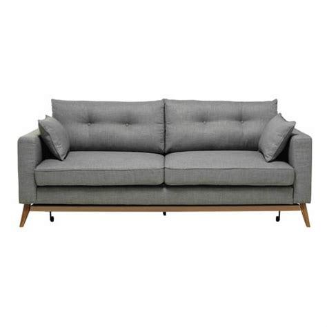 divano materasso maison du monde divano letto 3 posti in tessuto grigio chiaro