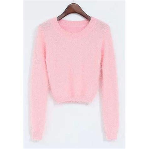 Kawai Sweater Pink sweater kawaii kawaii grunge pastel pastel pink cropped sweater knitwear fall