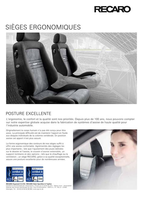 recaro si 232 ges ergonomiques compact by fmk fact issuu