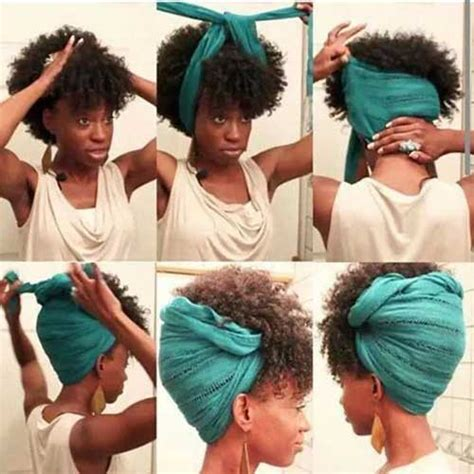 Scarf Black Hairstyles For Hair by 30 Best Afro Hair Styles Hairstyles Haircuts 2016 2017