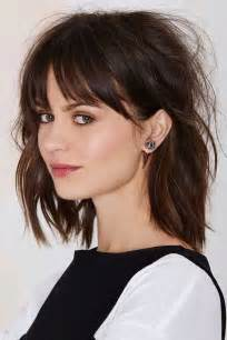 fringe clipped back hairstyles 25 best ideas about long bob bangs on pinterest long