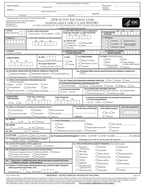 14 Case Report Forms Pdf Doc Infection Monthly Report Template