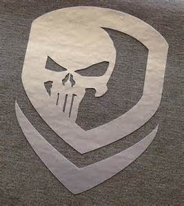Punisher Template by Punisher Skull Template Punisher Symbol Stencil