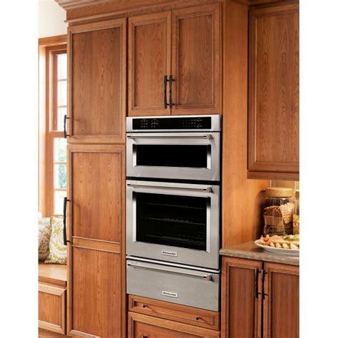 Wall Oven With Warming Drawer Combo by Kitchenaid Koce500ess 30 Quot Combination Wall Oven Microwave